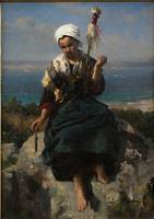 Jules Breton~The Flax Spinner