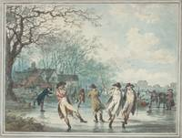 Julius Caesar Ibbetson~Skaters on the Serpentine i