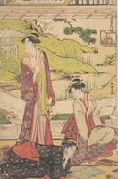 Katsukawa Shunshō~あやめ燈籠図Three Women Enjoying Liter