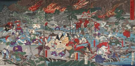 Kawanabe Kyōsai~The Battle of Ueno