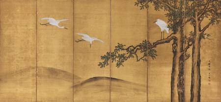 Kejo Keikoku (下條桂谷, 1842-1920)~Paintingof Fir Tree