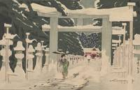 Kobayashi Kiyochika~View of Ueno's Tōshōgū in Snow