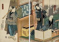Kunisada~Tobacconist in Kabuki (Japanese tradition