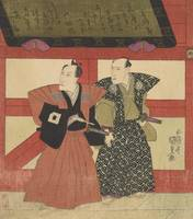Kunisada~Two Kabuki actors