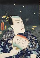 Kunisada~[Actor holding a fan with autumn grasses