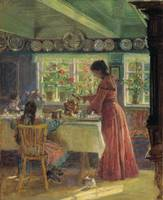 Laurits Tuxen~Pouring the morning coffee