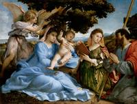 Lorenzo Lotto~Madonna and Child with Saints Cather