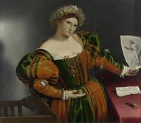 Lorenzo Lotto~Portrait of a Woman inspired by Lucr