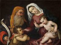 Lorenzo Lotto~The Virgin and Child with Saints Zac