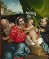 Lorenzo Lotto~The Virgin and Child with Saints