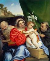 Lorenzo Lotto~Virgin and Child with Saints Jerome