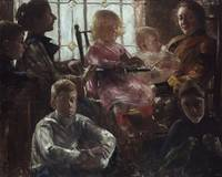 Lovis Corinth~The Family of the Painter Fritz Rump