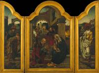 Master of 1518, Jan van Dornicke~Triptych with the