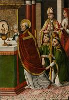 Master of Portillo~The Mass of Saint Gregory the G