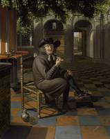 Matthijs Naiveu~A gentleman smoking in a shaded co
