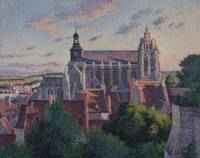Maximilien Luce~The Cathedral at Gisors, View of t