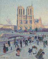 Maximilien Luce~The Quai Saint-Michel and Notre-Da