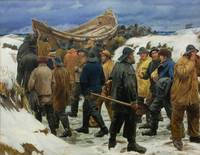 Michael Ancher~The Lifeboat is Taken through the D