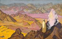 Nicholas Roerich~Mohammed on Mount Hira. From the