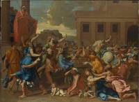 Nicolas Poussin~The Abduction of the Sabine Women