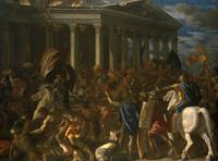 Nicolas Poussin~The Destruction and Sack of the Te