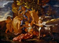 Nicolas Poussin~The Nurture of Bacchus