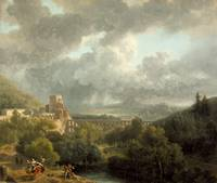 Nicolas-Antoine Taunay~Landscape with an Aqueduct
