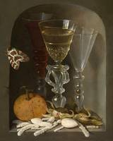 Osias Beert~Still Life of Three Wineglasses in a N