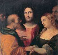 Palma Vecchio~Christ and the adulteress