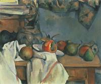 Paul Cezanne~Ginger Pot with Pomegranate and Pears