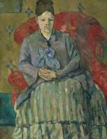 Paul Cézanne~Madame Cézanne in a Red Armchair