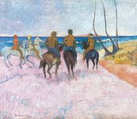 Paul Gauguin~Cavaliers sur la plage (I) (Riders on