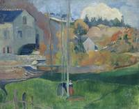 Paul Gauguin~Landscape in Brittany. The David Mill
