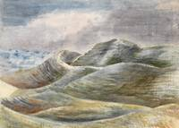 Paul Nash (1889-1946)~Watercolour of Maiden Castle