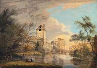 Paul Sandby~An Unfinished View of the West Gate, C