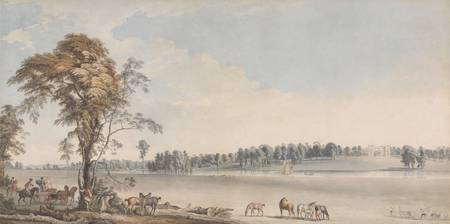 Paul Sandby~North West View of Wakefield Lodge in