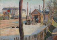 Paul Signac~Railway junction near Bois-Colombes