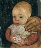 Paula Modersohn-Becker~Infant with the hand of the