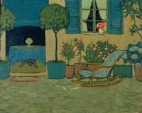 Pere Torné Esquius~Garden with Rocking Chair