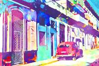 Abstract Watercolor - Havana, Cuba I