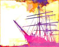 Abstract Watercolor - San Francisco Ship I