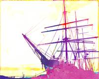 Abstract Watercolor - San Francisco Ship II