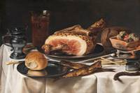 Pieter Claesz~Still Life with Ham