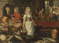 Pieter Cornelisz van Rijck~Kitchen Scene with the