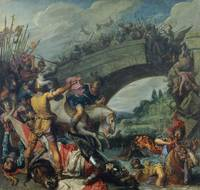 Pieter Lastman~The Battle of Constantine and Maxen
