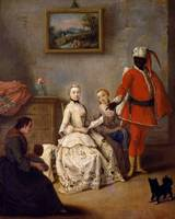 Pietro Longhi~The letter of the moor