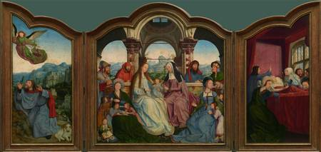 Quentin Matsys~Triptych with the Family of St Anne