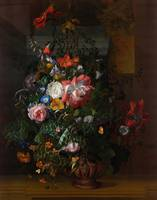 Rachel Ruysch~Roses, Convolvulus, Poppies, and Oth