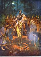 Raja Ravi Varma~Shiva and Parvati in Procession (S