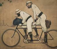 Ramon Casas~Ramon Casas and Pere Romeu on a Tandem